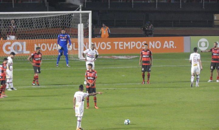 Brasileirão 2017: Ouça os gols de São Paulo 2 X 2 Atlético GO