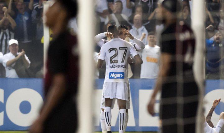 Ouça o Gol da Vitória do Santos contra o Atlético Paranaense aqui na Poliesportiva