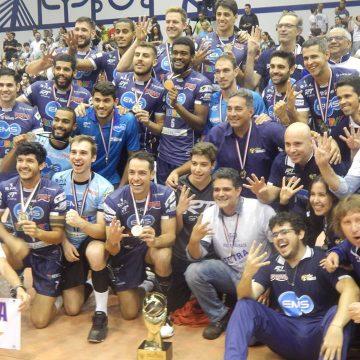 Taubaté supera Corinthians em Guarulhos e se sagra tetracampeão paulista de vôlei