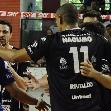 Superliga: Com tranquilidade,Corinthians Guarulhos, em casa, vence Vôlei Renata