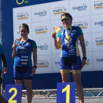 Jovens talentos do triathlon brilham no Pan