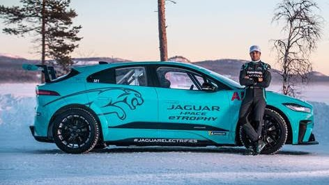 Jaguar I-PACE eTrophy: Nelson Piquet Jr testa carro da categoria no Círculo Ártico
