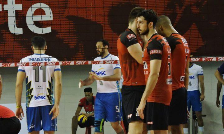 Com quatros jogos neste sábado e SESI-SP x SESC-RJ no domingo, Superliga Masculina chega a 8ª rodada