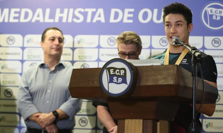 Arthur Nory sonha em ser maior medalhista olímpico do Pinheiros