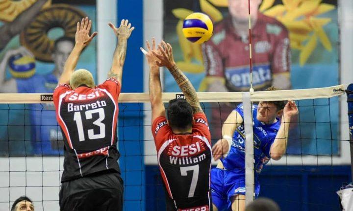 Na Superliga Masculina, SESC-RJ vence e aproveita tropeço do SESI-SP em Campinas para assumir a terceira posição