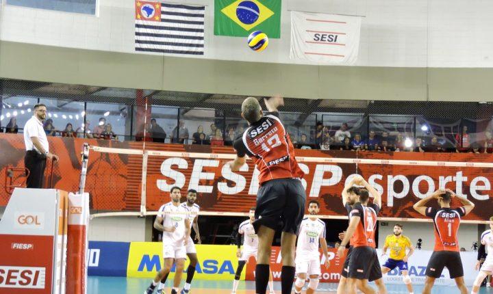 Após vitórias, SESI-SP e APAN Blumenau se enfrentam na Vila Leopoldina