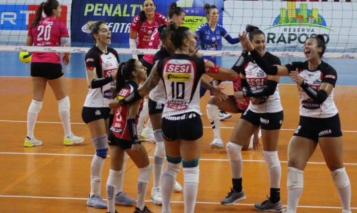 SESI Vôlei Bauru vence Osasco, chega à terceira vitória seguida e lidera o Paulista