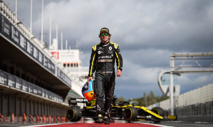 Nesta semana, Fernando Alonso fez primeiro teste com Renault