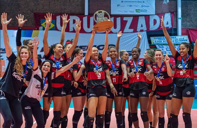 Sesc-RJ/Flamengo supera o Fluminense e é campeão Carioca de Vôlei