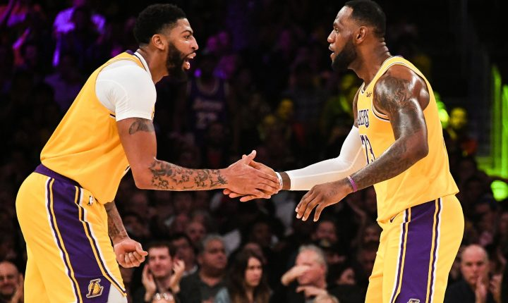 LeBron James e Anthony Davis: a grande dupla dos Lakers