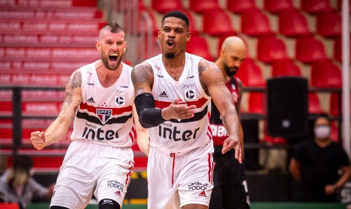 NBB 2020 2021 – 1º turno – Momentos finais de São Paulo 80 x 68 Flamengo