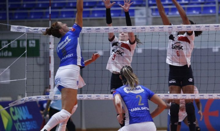 Superliga Feminina 2020 2021- 9ª rodada – Momentos finais de Minas 3 x 0 SESC-RJ Flamengo