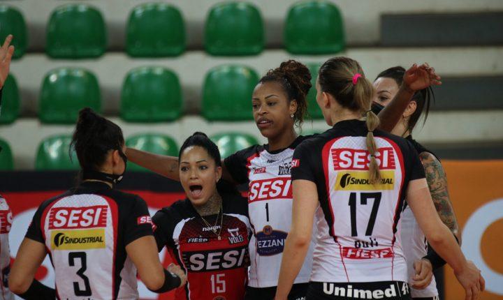 SESI Bauru recebe Fluminense pensando nos líderes da Superliga Feminina
