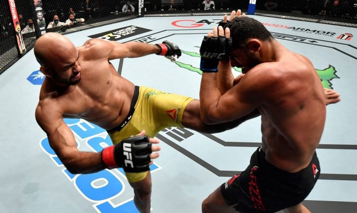 Brasileiro Warlley Alves derrota Mounir Lazzez na luta co-principal do UFC Fight Island 8