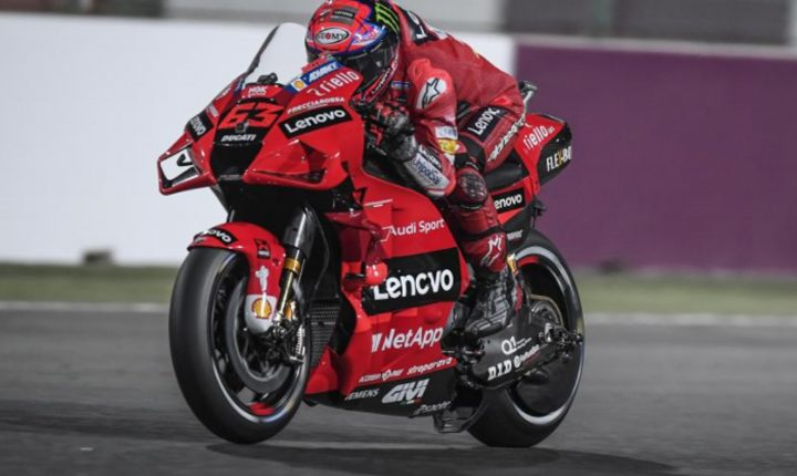 Bagnaia crava 1ª pole na MotoGP