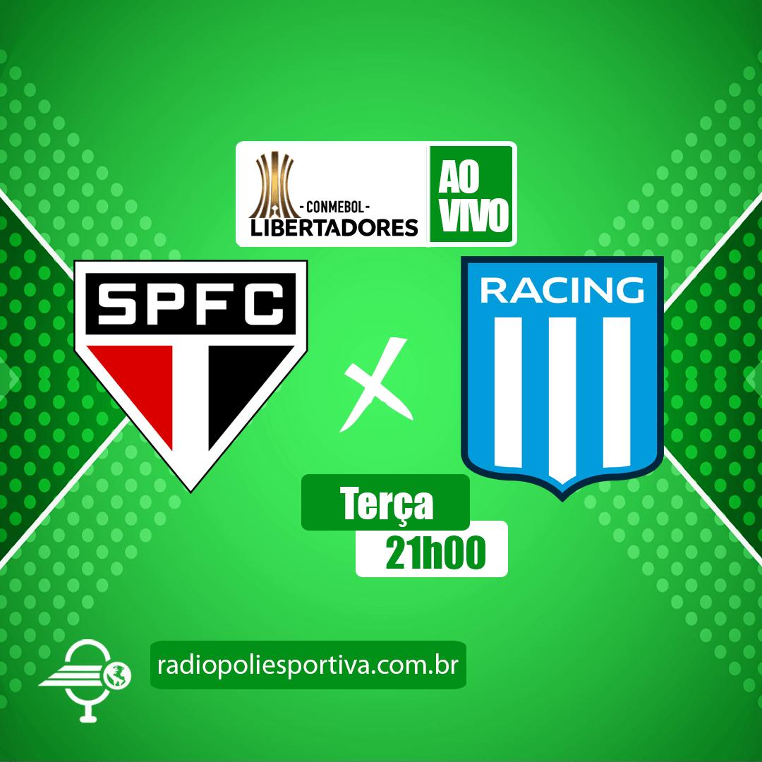 Libertadores 2021 - Oitavas de Final - 1º Jogo - São Paulo x Racing-ARG