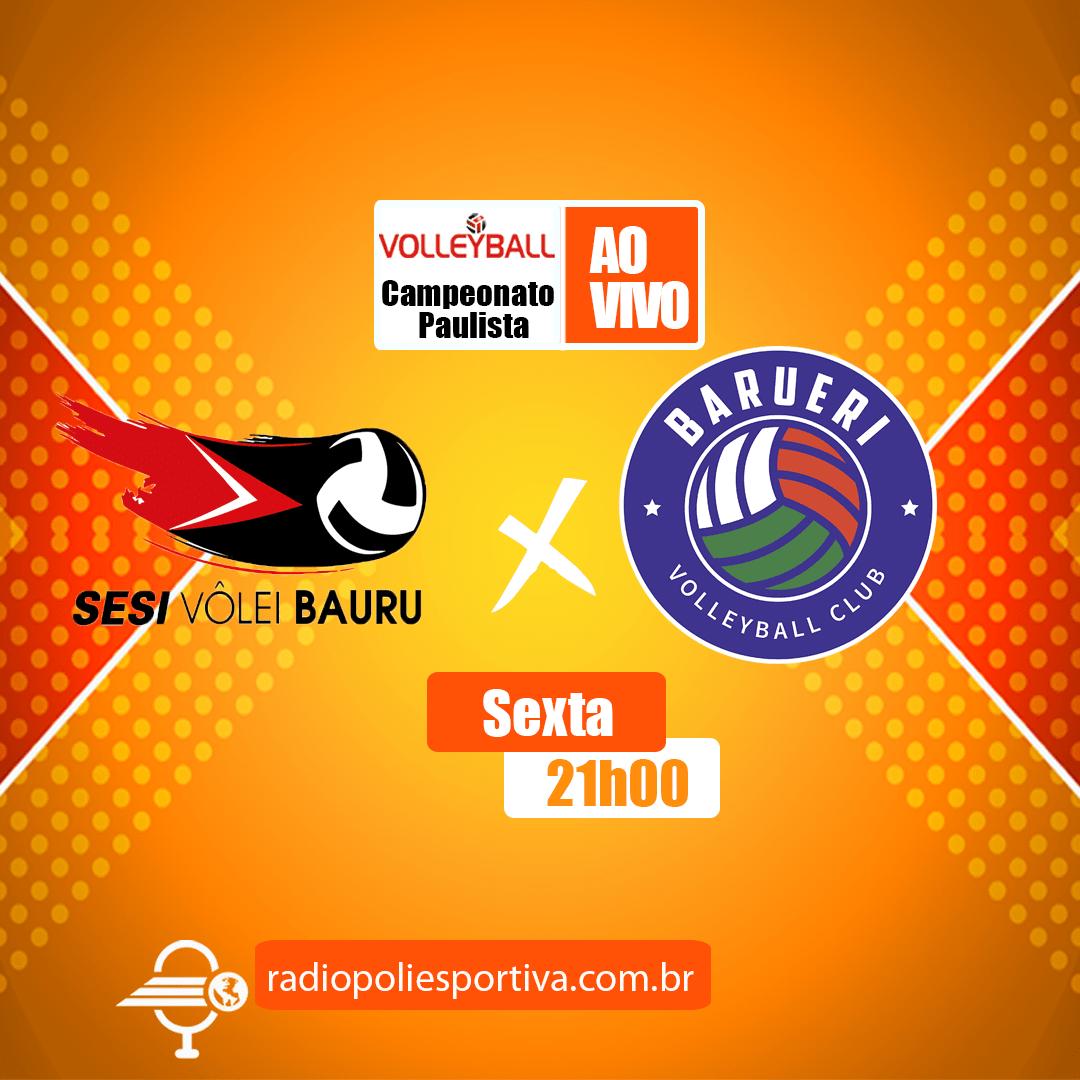 Campeonato Paulista Feminino de Vôlei 2021 - 1º Fase - SESI Bauru x Barueri